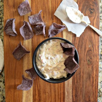3 Ingredient Slow Cooker Sausage & Queso Dip