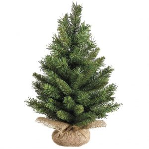 This table top pine tree is a perfect centerpiece for your Christmas table