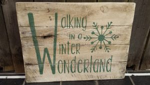 A rustic Winter Wonderland sign is perfect Christmas decor for your home