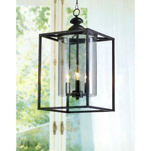 antique farmhouse lantern with glass