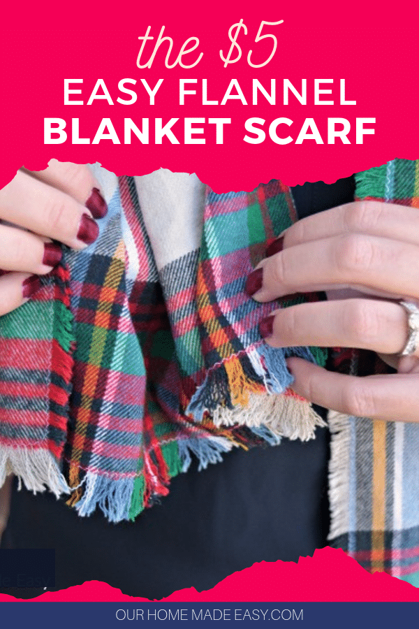 Make A 5 Blanket Flannel Scarf Our Home Made Easy