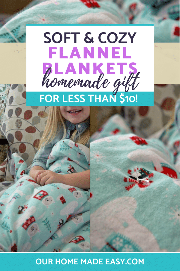 How to make easy DIY flannel kids blankets in just a few steps! This quick tutorial is easy and budget-friendly!