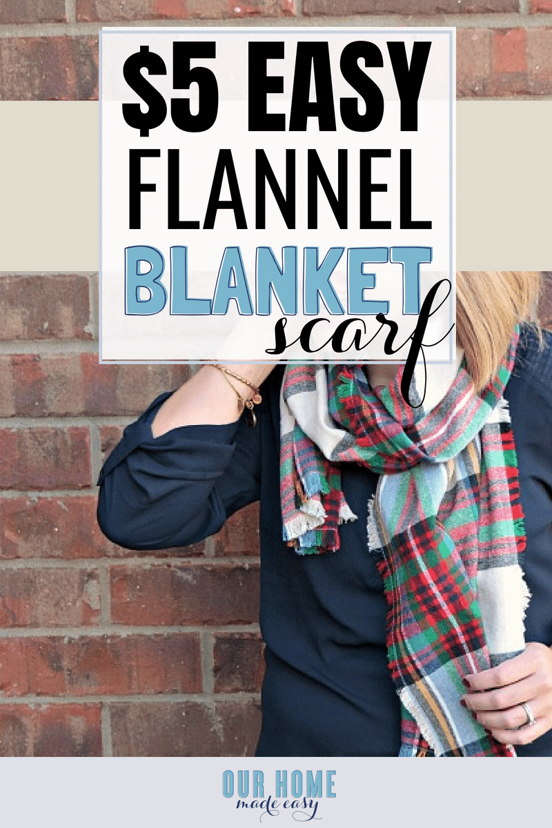 DIY Blanket Flannel- make it for under $5! #scarf #sewing #fall