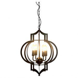 Moroccan style foyer chandelier