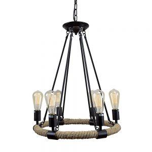 retro style hemp rope foyer chandelier