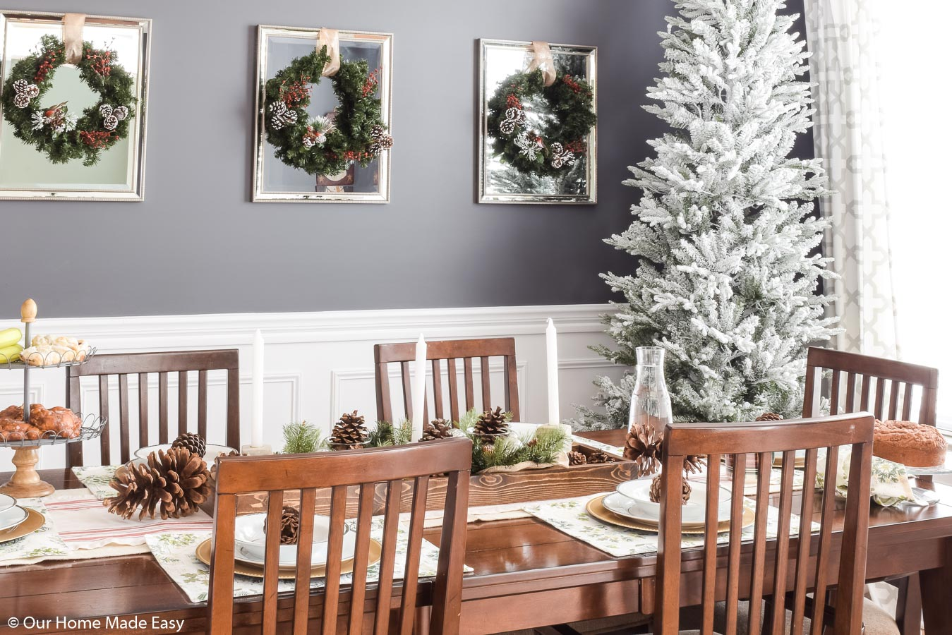Our simple and festive Christmas dining room is perfect for cozy winter mornings and family breakfast
