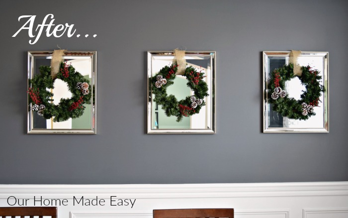 These super easy and budget-friendly DIY Christmas wreaths are a great way to spruce up your home for Christmas!