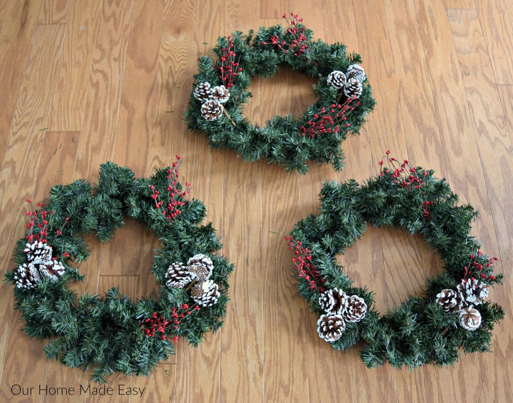 How To Make A Simple Diy Christmas Wreath Our Home Made Easy