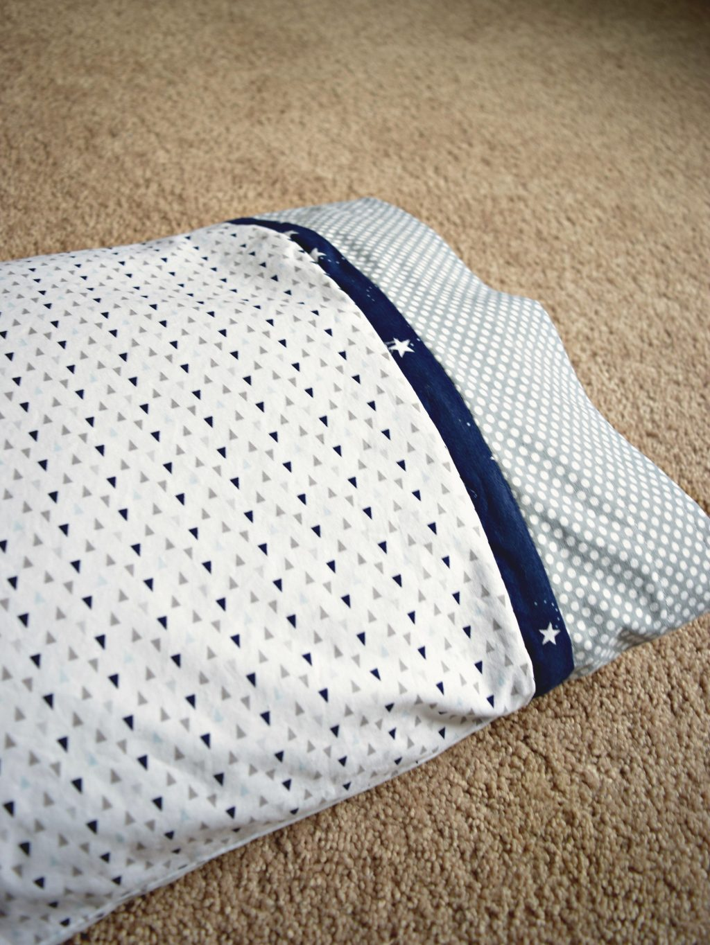 These easy to sew toddler pillow cases are perfect for youngsters who have finally made their way to their own beds