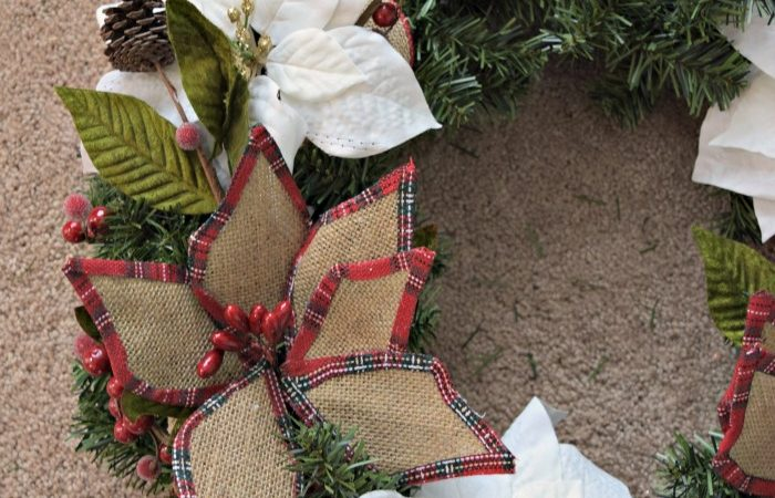 Learn the easy steps to making any wreath look like it came from Pinterest! Click to see the steps!