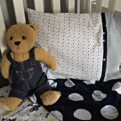 Easy DIY Toddler Pillowcase