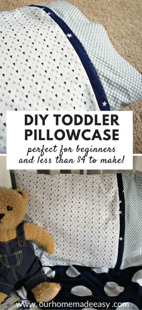 Easy tutorial for toddler pillowcase for beginners! Click to see the step by step instructions & Easy DIY Toddler Pillowcase \u2022 Our Home Made Easy pillowsntoast.com