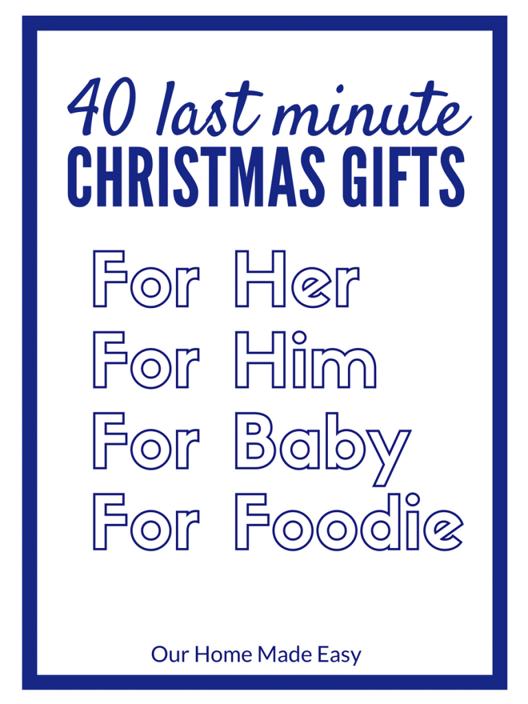 Find 40 ideas for your last minute gifts for Christmas! If you have an Amazon Prime membership you can receive them quickly!