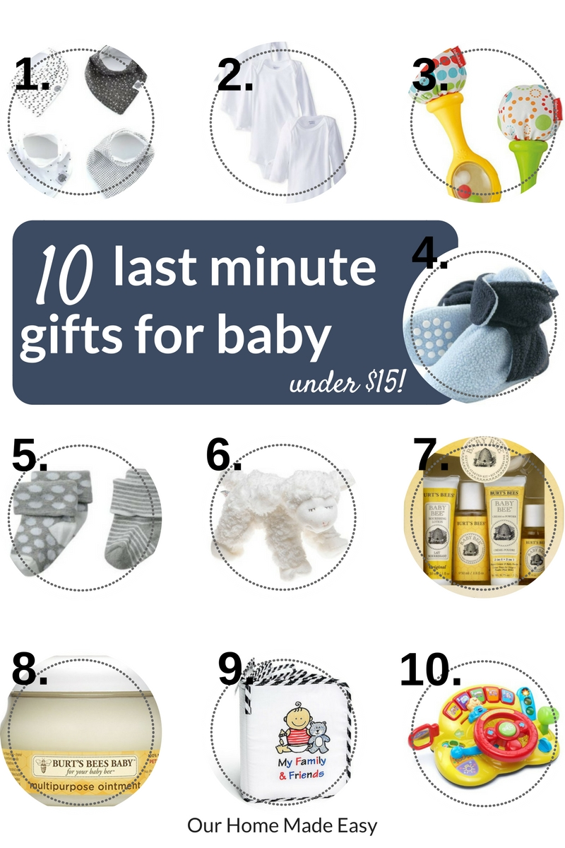Last minute gifts for the baby in the family... all under $15!