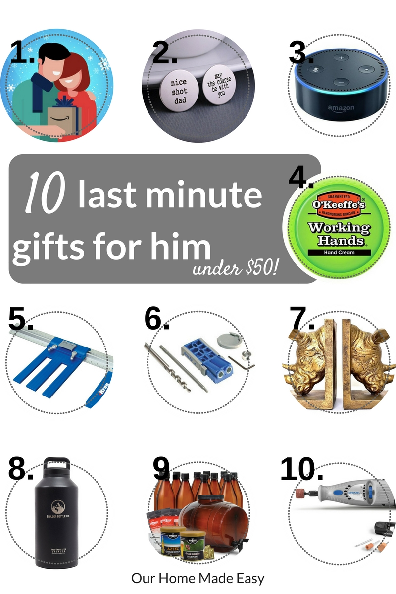 Last minute gifts for him... all under $50!