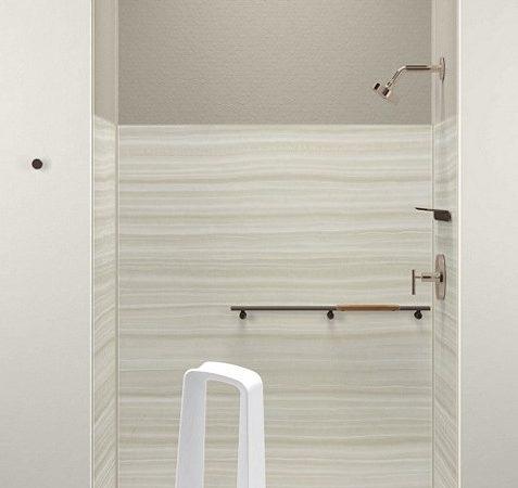 shower shelf kohler quot k dp choreograph storage locker white