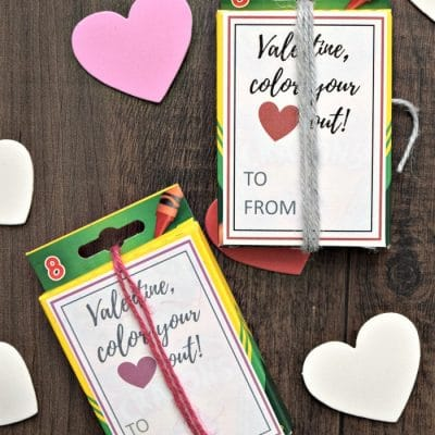 Crayon Box Valentine for Preschoolers