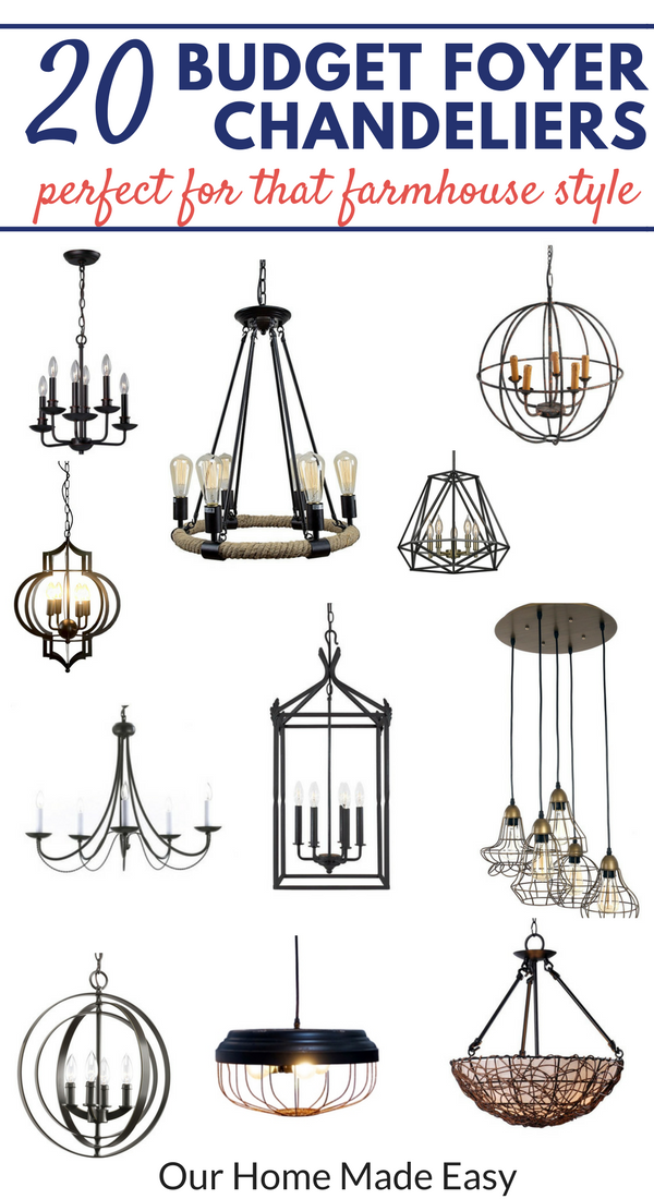 20 awesome ideas for budget lighting.... without feeling guilty! They are perfect for a farm house, shanty, or transitional style! Click to see them all