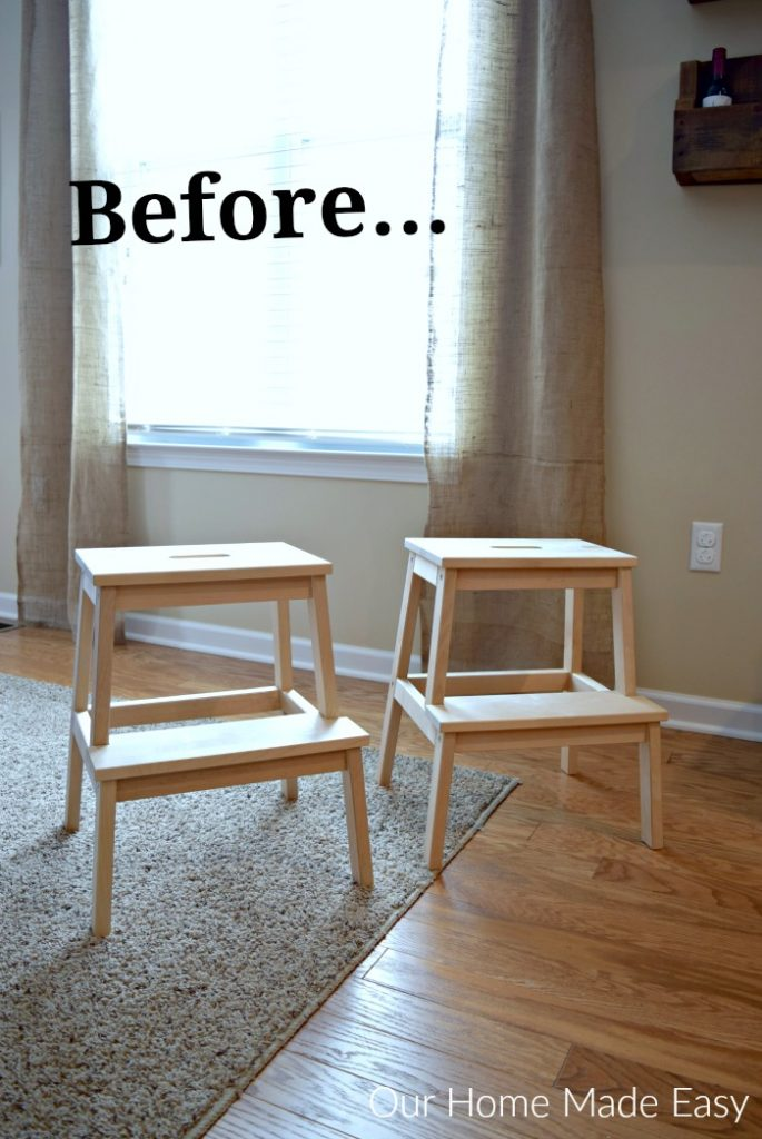 An easy IKEA hack! This step stool is perfect for kids and looks nice in the house!