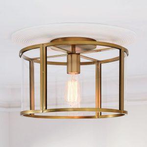 brass lantern style foyer chandelier with glass