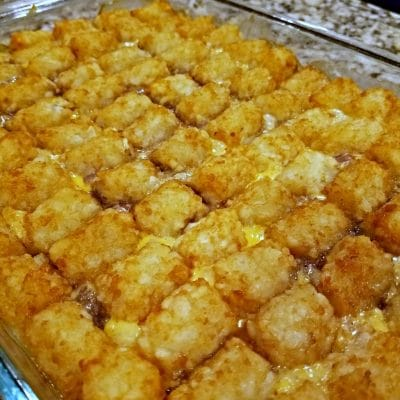 Super Easy and Mom Approved Tater Tot Casserole
