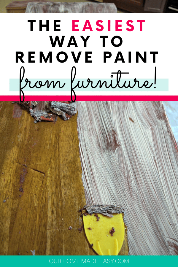easiest way to remove paint from furniture