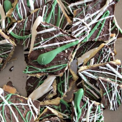Easy 20 Minute Salty and Sweet Leprechaun Bark!