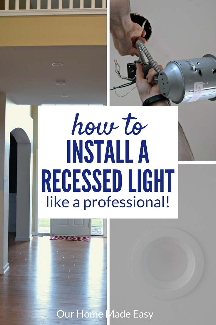 An easy how-to on installing a recessed light where a flushmount light was previously. Step by Step guide and pictures included!