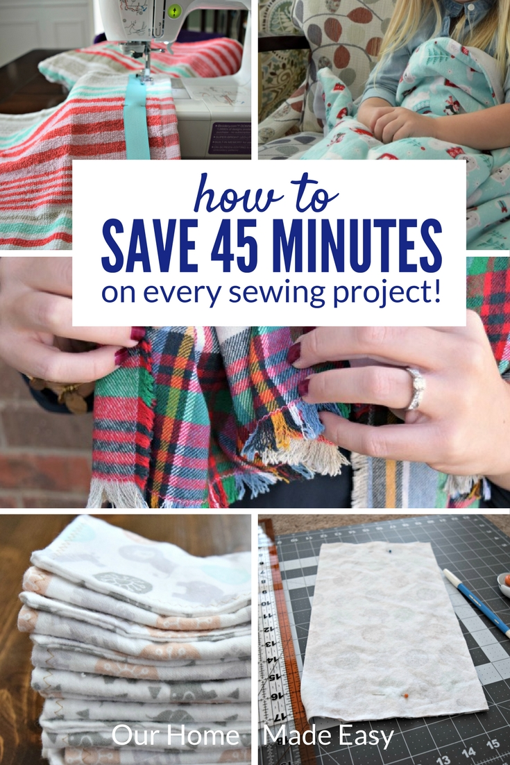 Here is an easy trick for how to save time sewing! It's perfect for busy moms or people who really don't like waiting in long lines at the fabric store.