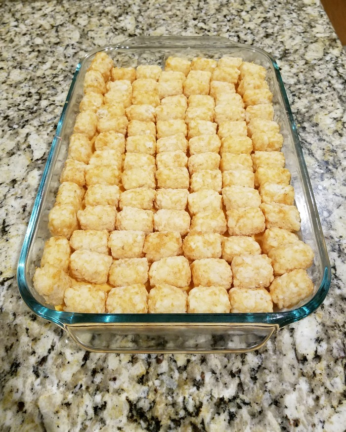 Use frozen tater tots for this easy tater tot casserole and make it an easy family dinner!