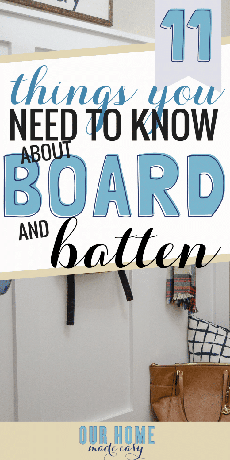 Here are the most important things to know before you start board & batten walls! Learn the tricks to making the project so much easier! Click to see them!