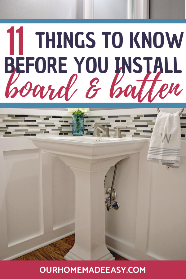 how to install board and batten bathroom