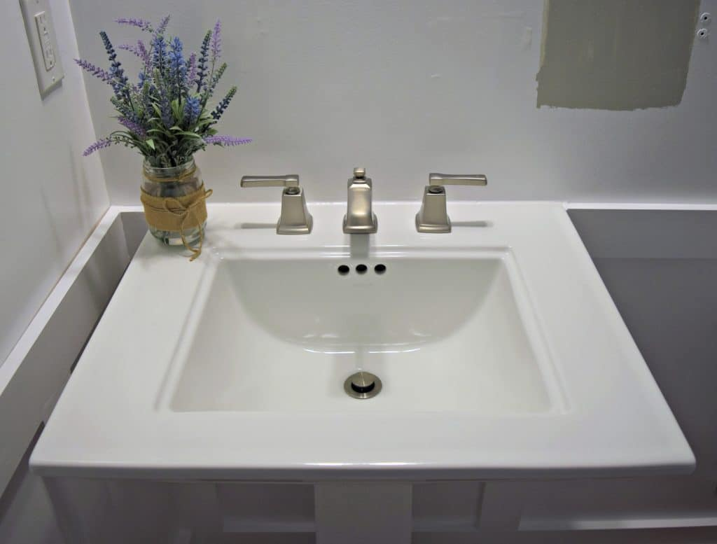How To Install A Pedestal Sink Orc Week 3 Our Home
