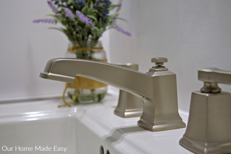 Here is an easy how to install a pedestal sink. Includes how to remove existing sink and replacing the faucet
