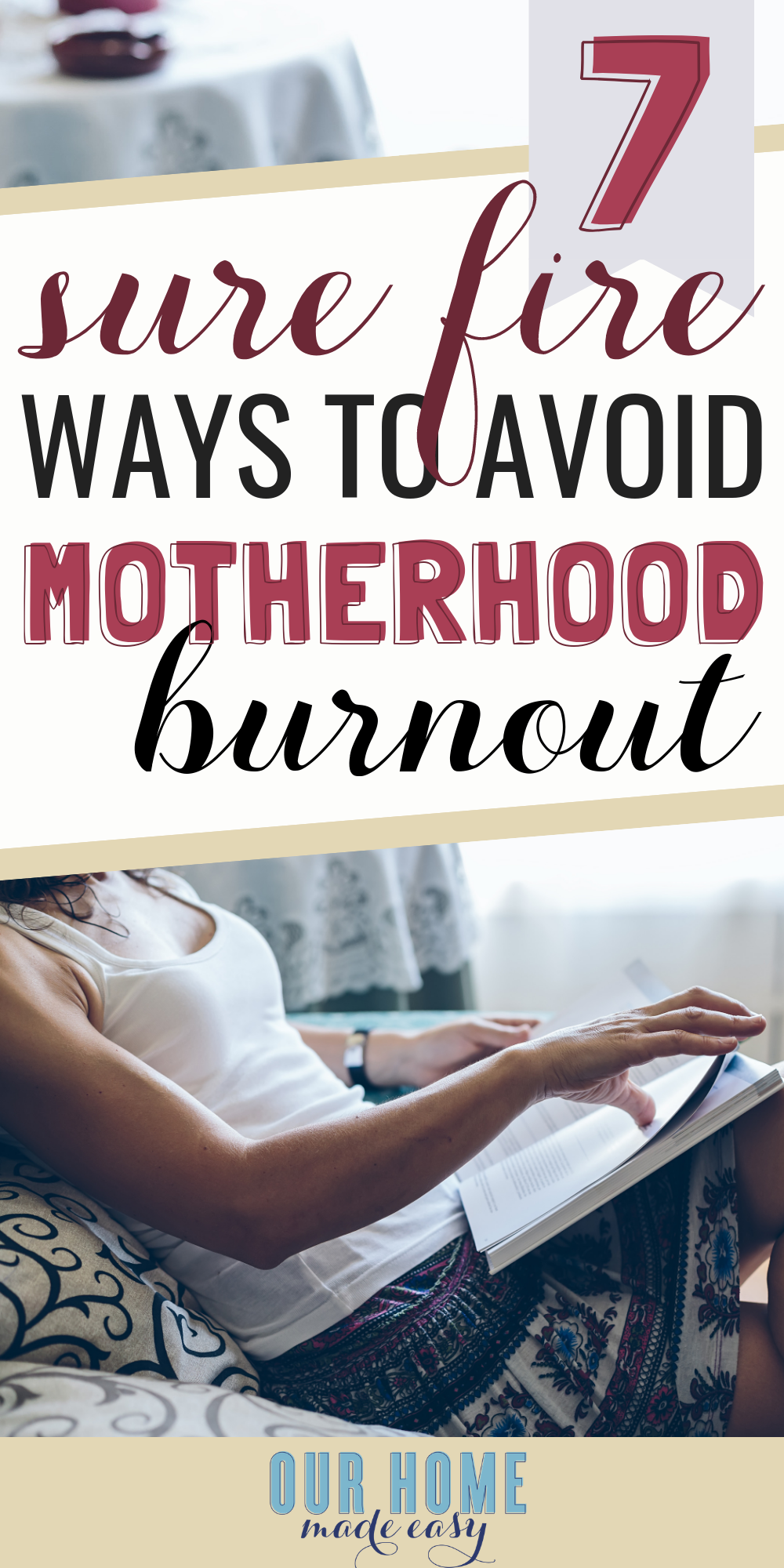 Avoid mom burnout and feeling emotionally drained
