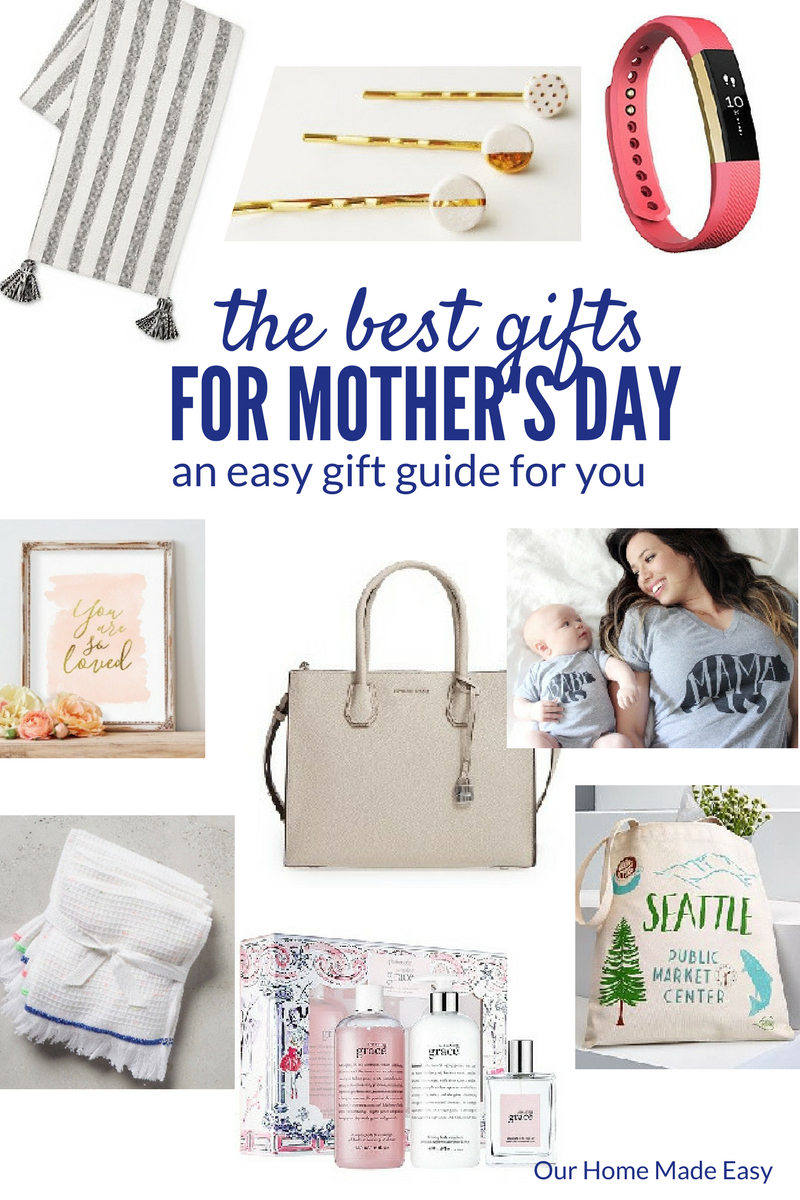 Here is a gift guide for mother's day gift ideas! They are perfect for any busy, but stylish mama!