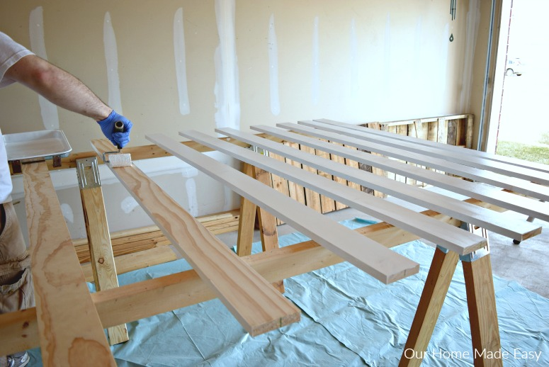 DIY projects take a LOT of work sometimes, like this board and batton wall project.