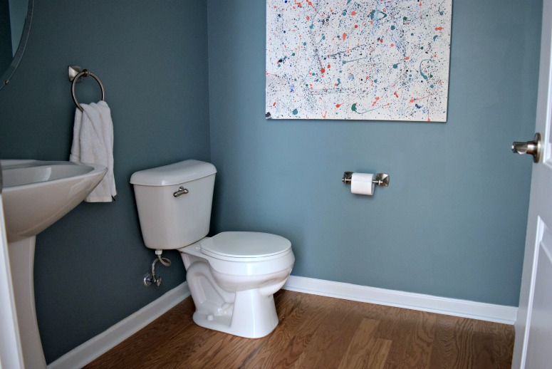 Our powder room needed a makeover so we made it a budget friendly project