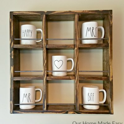 How to Build a Rae Dunn Mug Holder for Cheap!