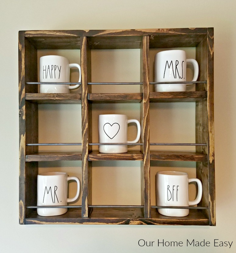 Here Is An Easy Rae Dunn Mug Holder For Only A Few Dollars It S