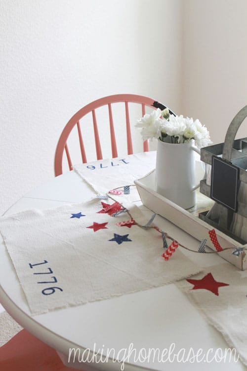 these patriotic placemats set the table for your 4th of july party