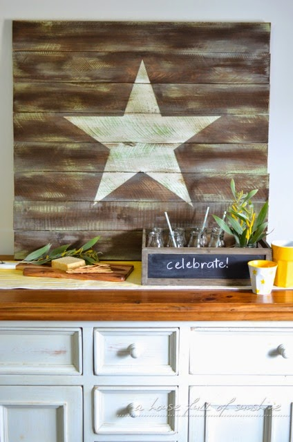 this wood wall art is a subtle touch of patriotic, making it the perfect 4th of july craft