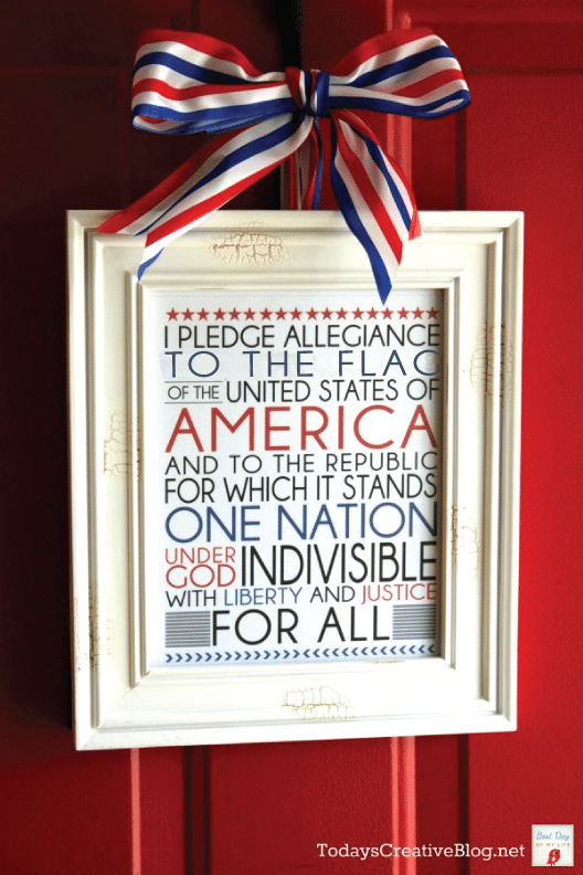 Pledge allegiance to the 4th of July with this pledge of allegiance printable