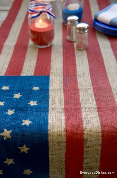 an american flag table runner will bring the freedom to your 4th of july parties