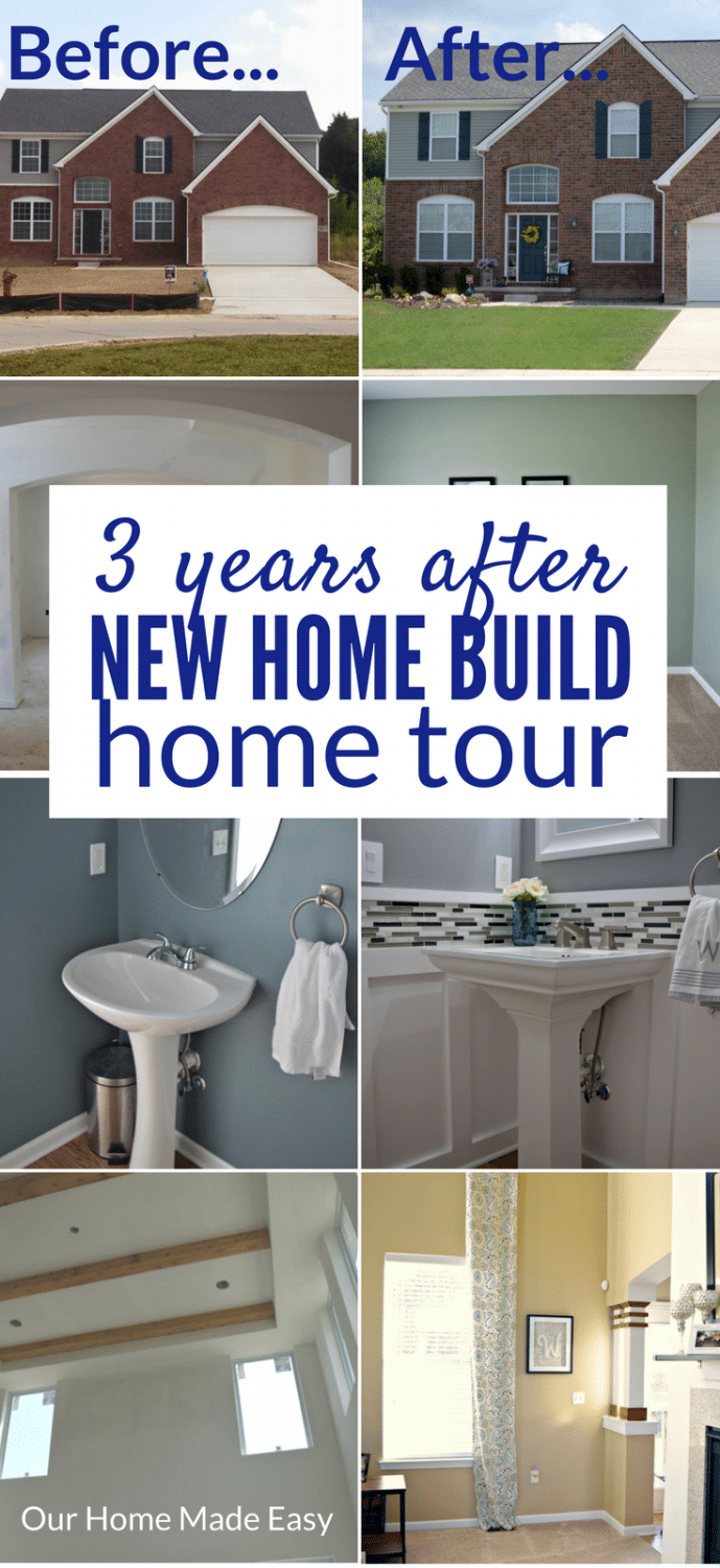 See our progress 3 years after building our new home. Check out the projects and what is to come up next for this new home build!