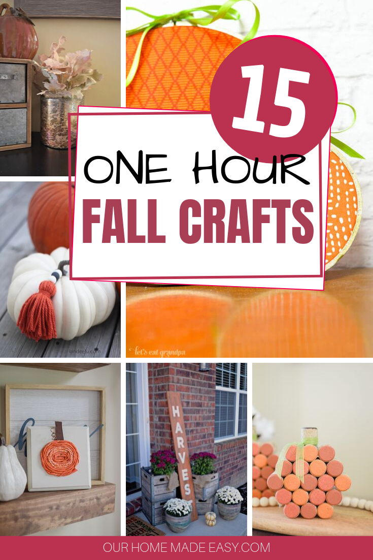 1-Hour Fall Craft Ideas: 15 creative crafts that are perfect for fall decorating, and take less than 1 hour to complete!