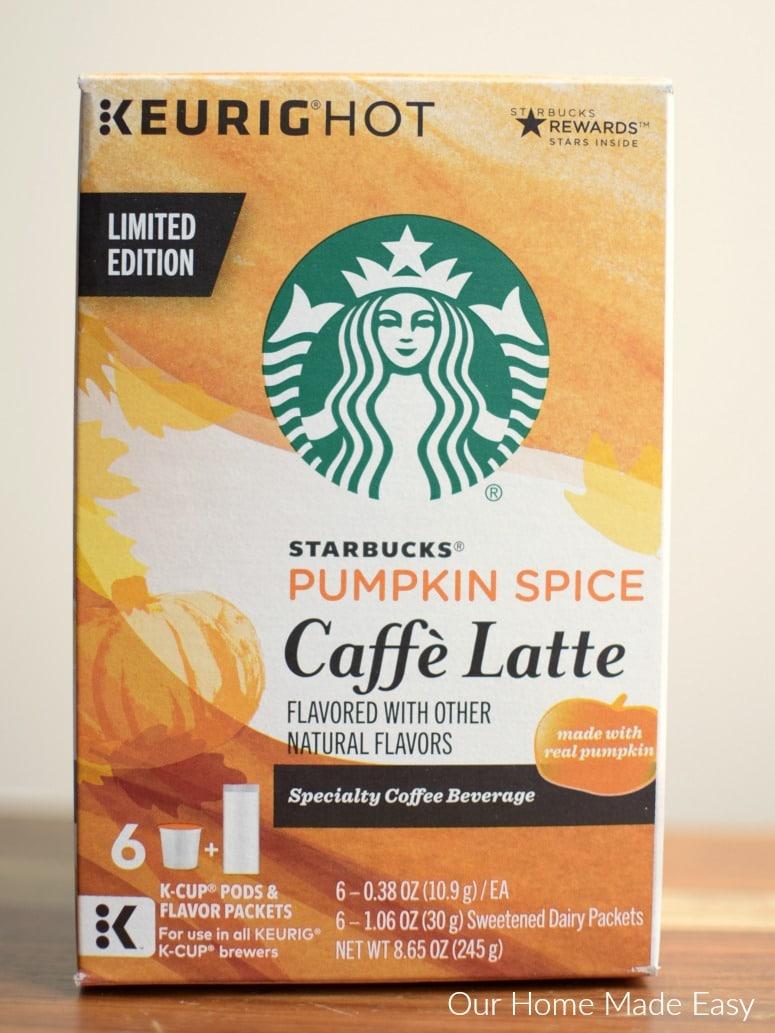 Starbucks® Pumpkin Spice Caffè Latte K-Cup® pod