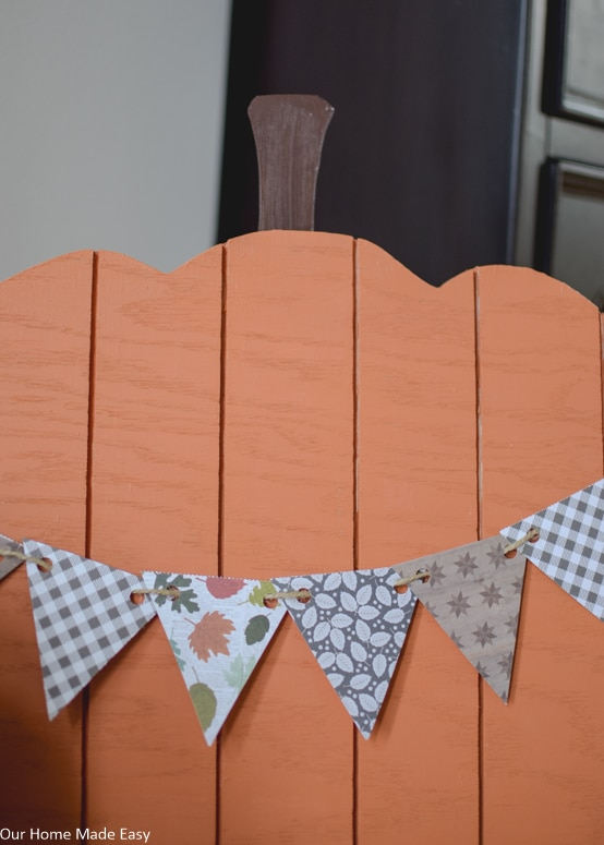Add the finishing touches to your plywood pumpkins sing festival fall bunting banners