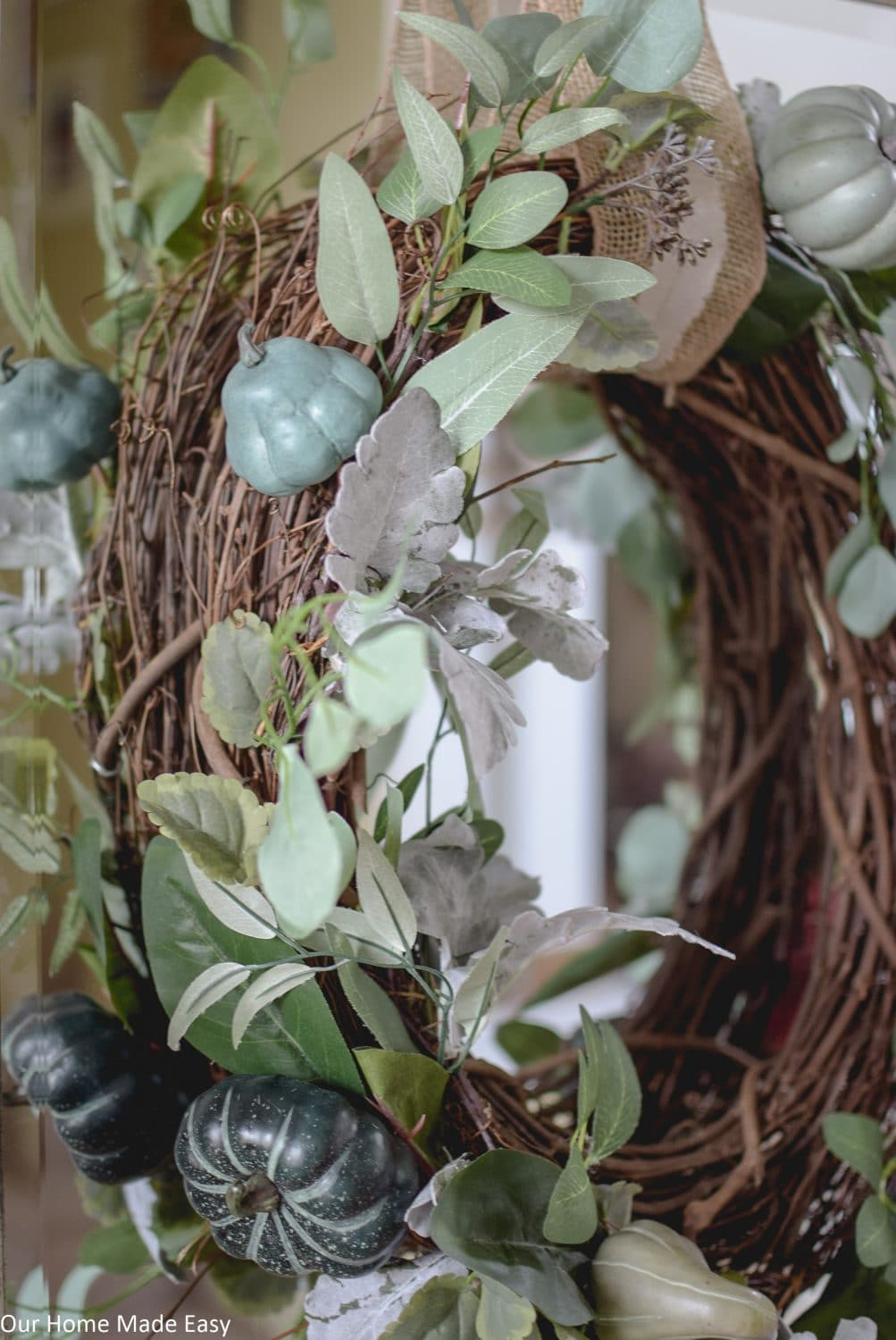 How To Make The Easiest 2 Step Fall Wreath Fall Entry