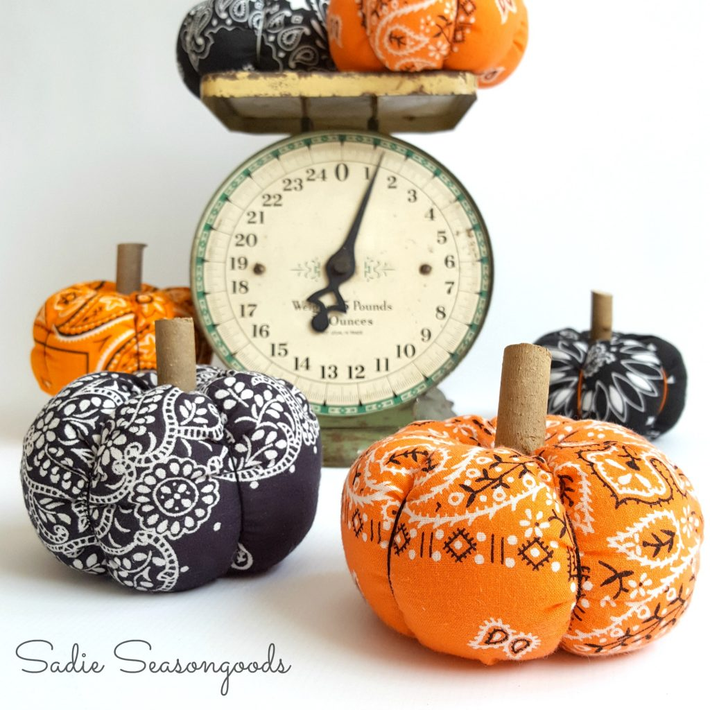 1-Hour Fall Craft Ideas: These Halloween bandana pumpkins are a fun DIY craft that's budget-friendly too